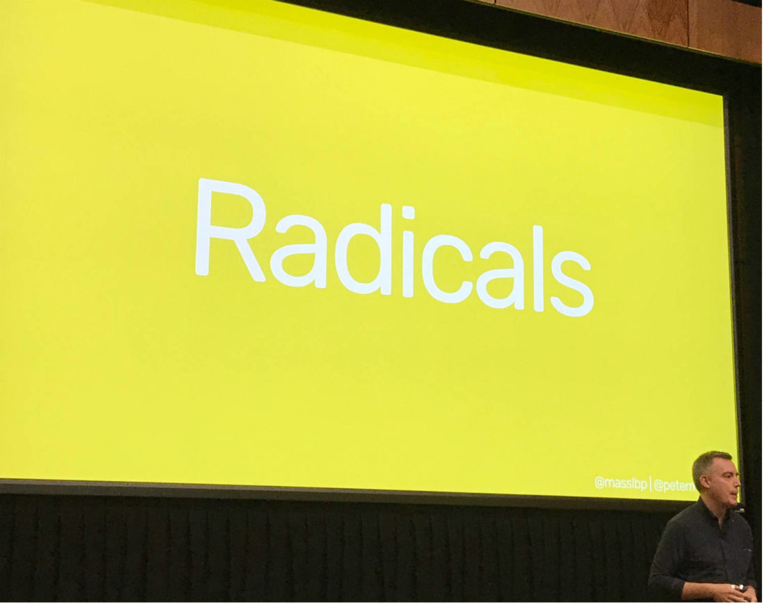 Canada's Peter MacLeod challenges libraries to be audacious at Radical Libraries 2018.